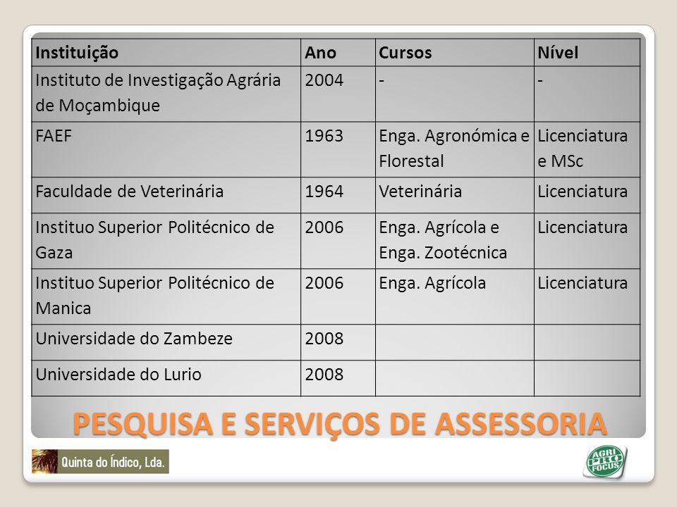 Pesquisa e Serviços de Assessoria