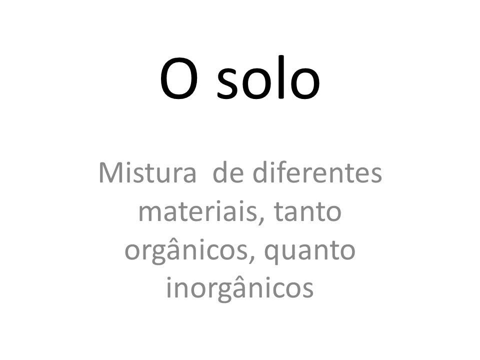 Mistura de diferentes materiais, tanto orgânicos, quanto inorgânicos