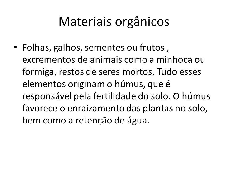 Materiais orgânicos