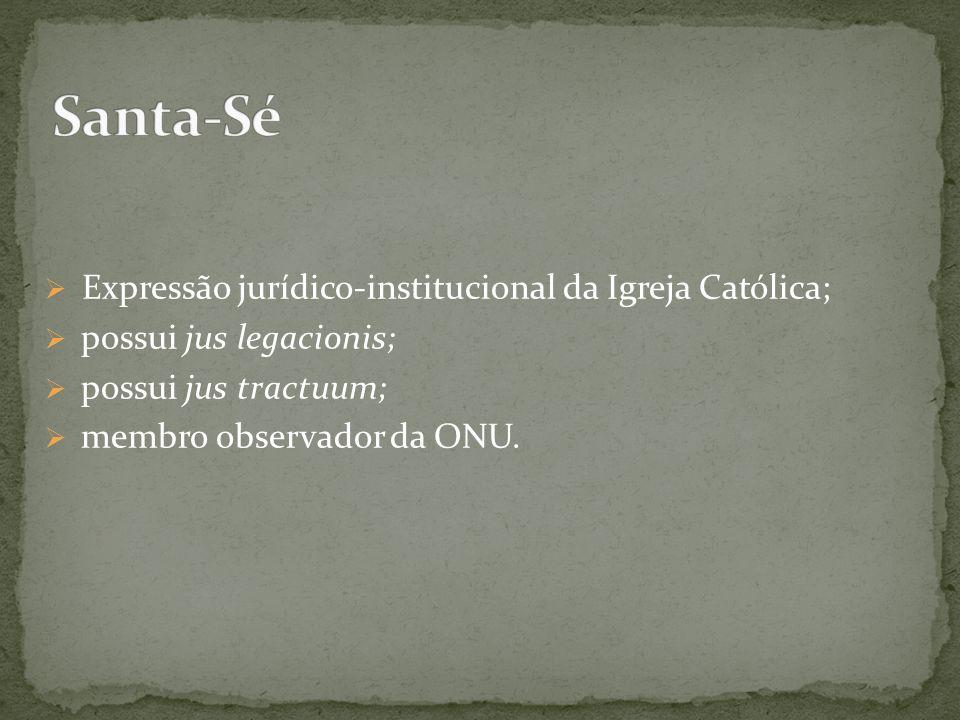 Expressão jurídico-institucional da Igreja Católica;