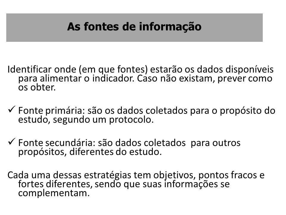 As fontes de informação
