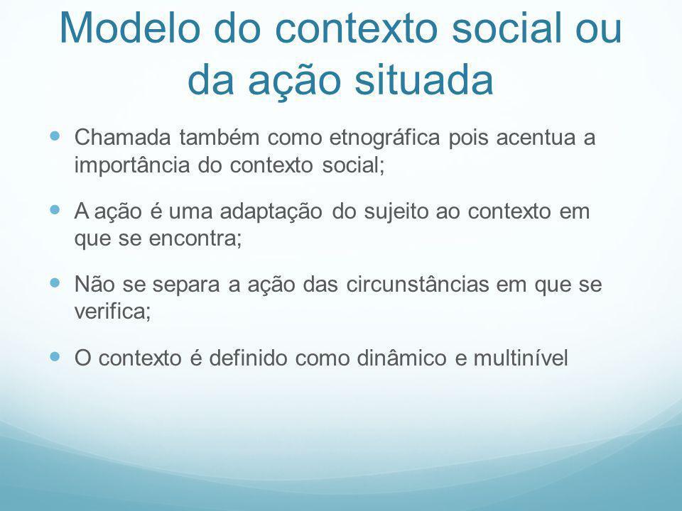 Modelo do contexto social ou da ação situada