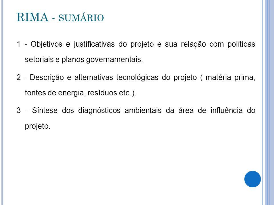 RIMA - sumário