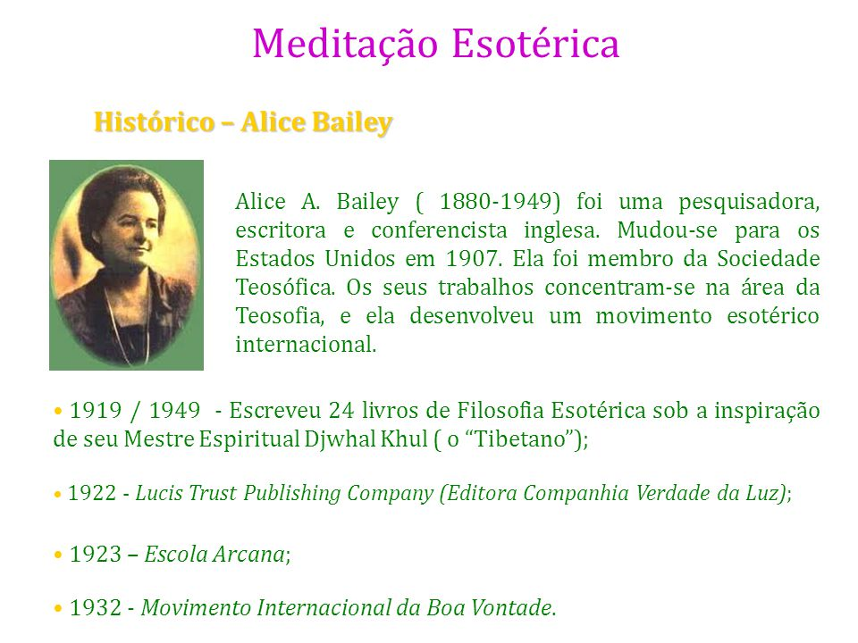 Histórico – Alice Bailey