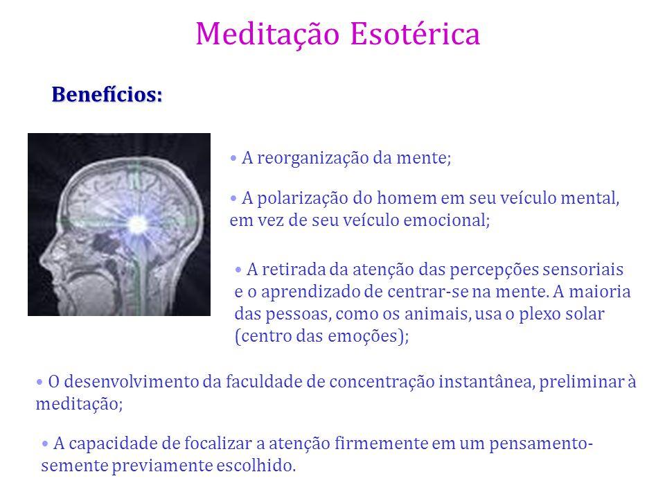 Benefícios: A reorganização da mente;
