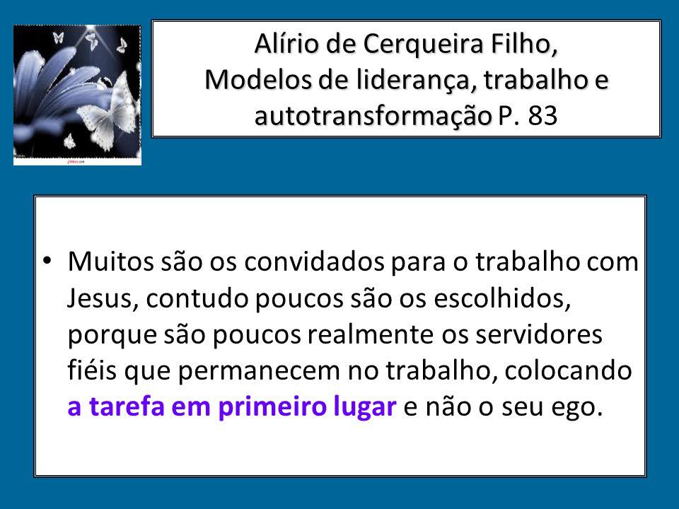 Alírio de Cerqueira Filho, Modelos de liderança, trabalho e autotransformação P. 83