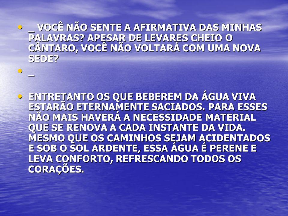 _ VOCÊ NÃO SENTE A AFIRMATIVA DAS MINHAS PALAVRAS
