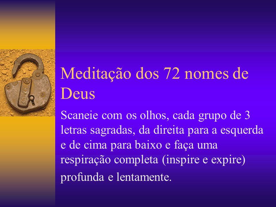 Meditação dos 72 nomes de Deus