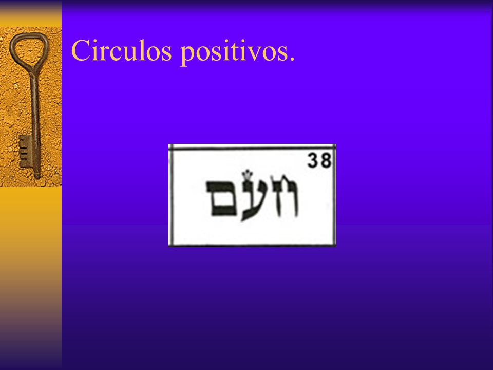 Circulos positivos.