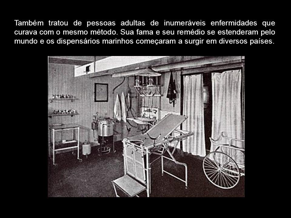 Também tratou de pessoas adultas de inumeráveis enfermidades que curava com o mesmo método.