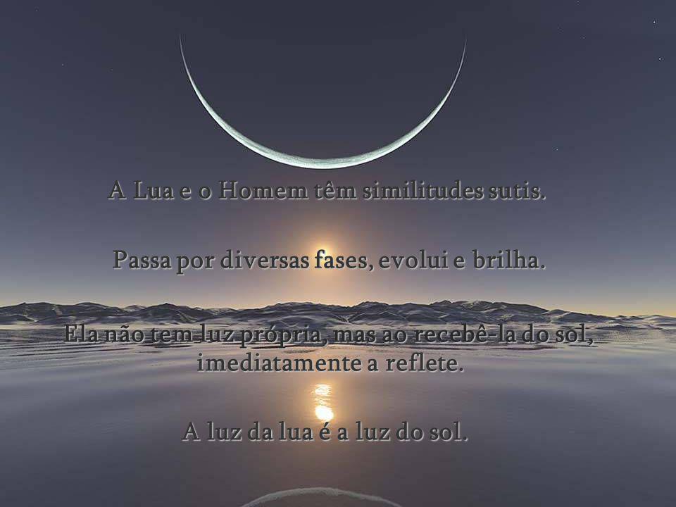 A Lua e o Homem têm similitudes sutis.