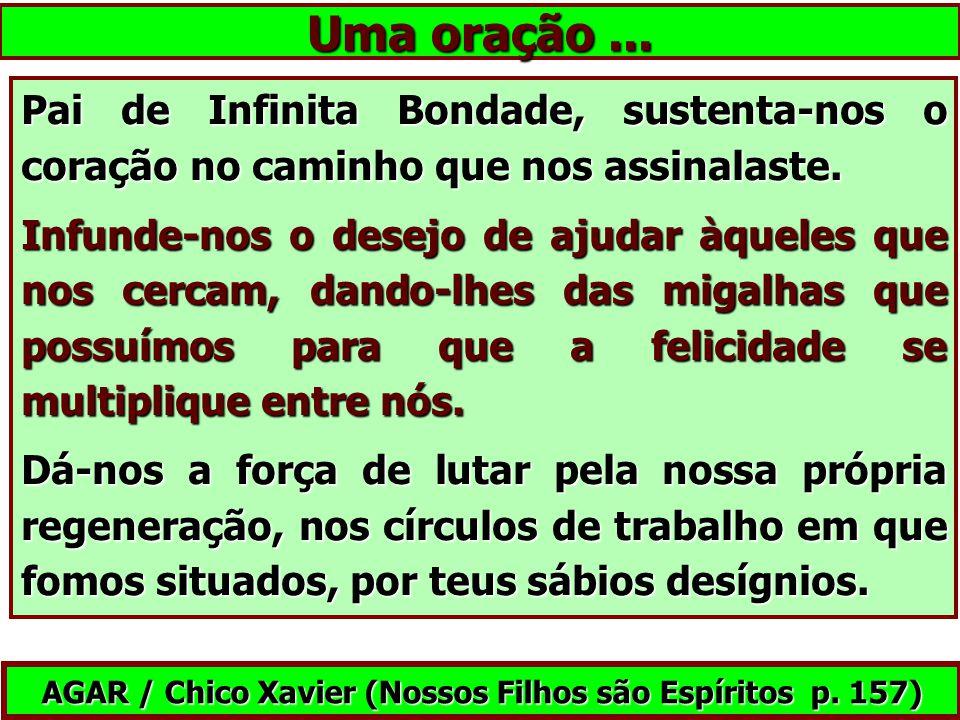 AGAR / Chico Xavier (Nossos Filhos são Espíritos p. 157)