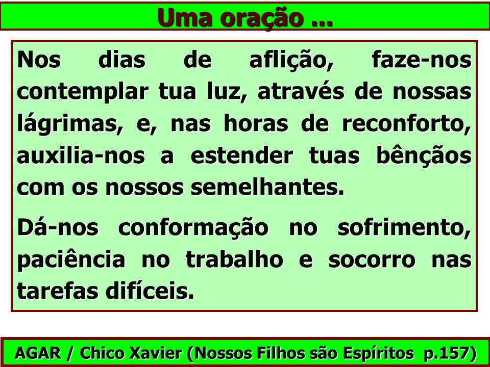 AGAR / Chico Xavier (Nossos Filhos são Espíritos p.157)