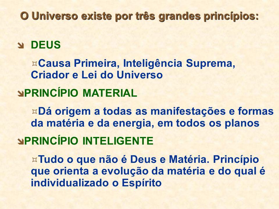 O Universo existe por três grandes princípios: