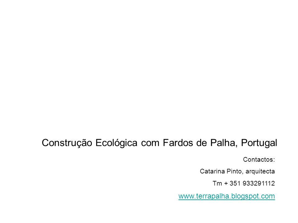 Construção Ecológica com Fardos de Palha, Portugal