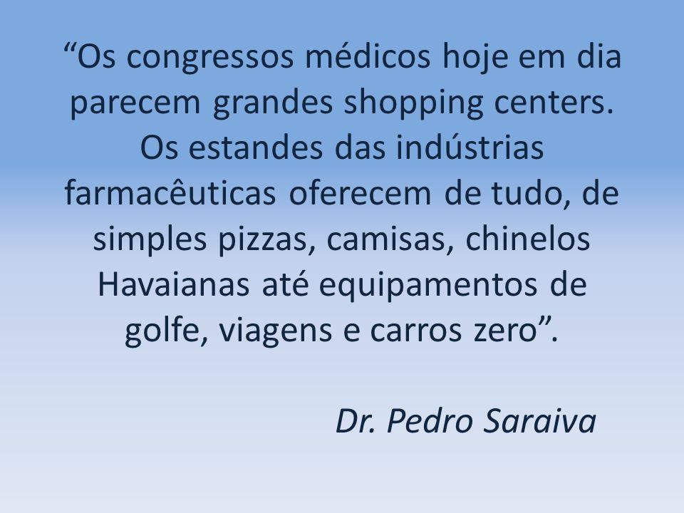 Os congressos médicos hoje em dia parecem grandes shopping centers