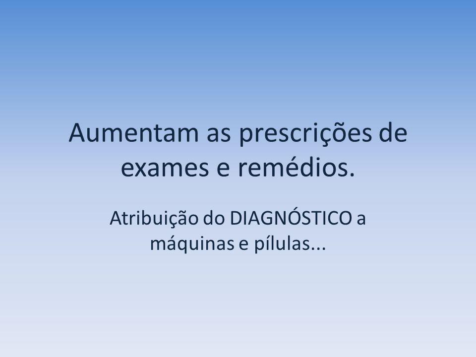 Aumentam as prescrições de exames e remédios.