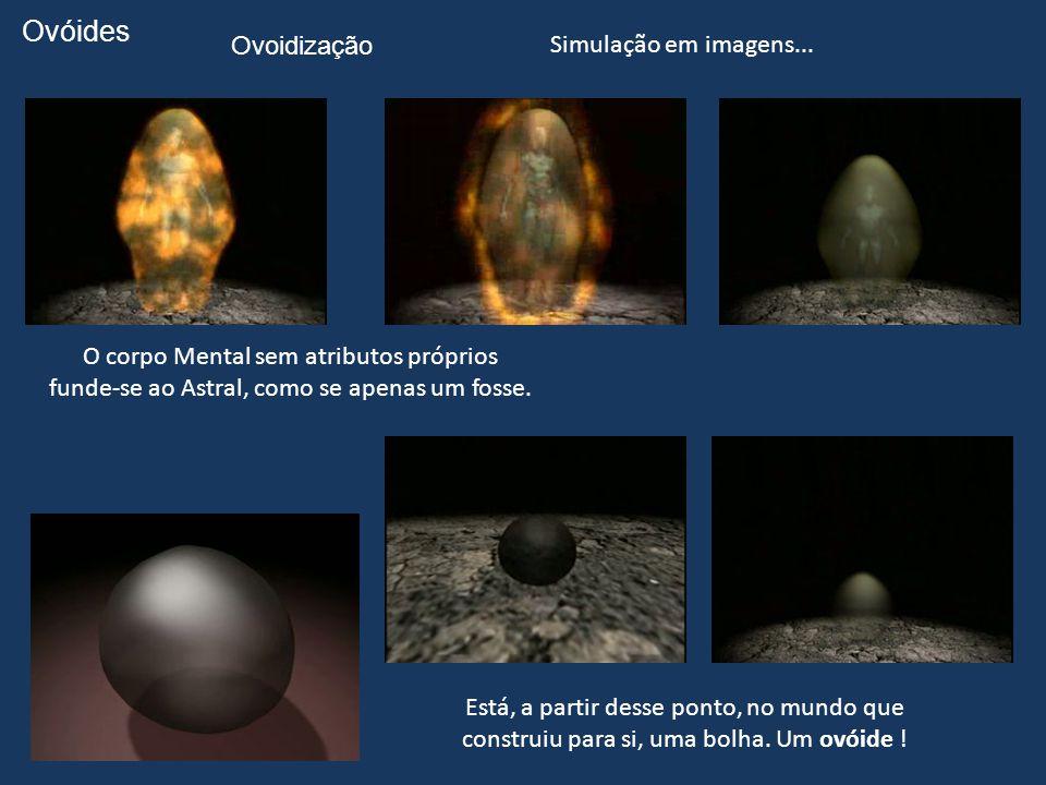 Ovóides Ovoidização Simulação em imagens...