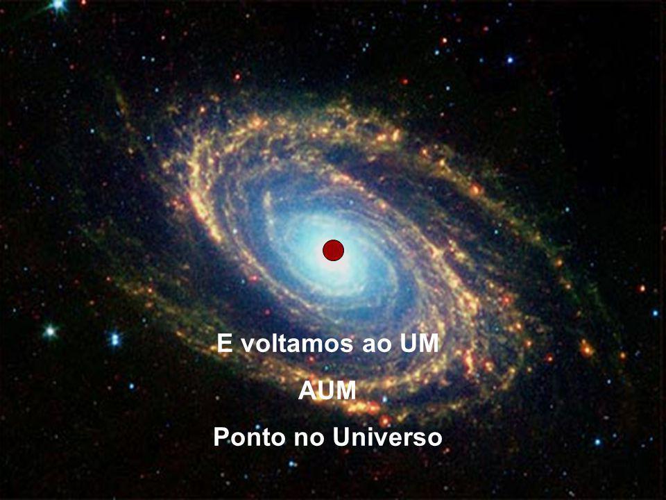E voltamos ao UM AUM Ponto no Universo