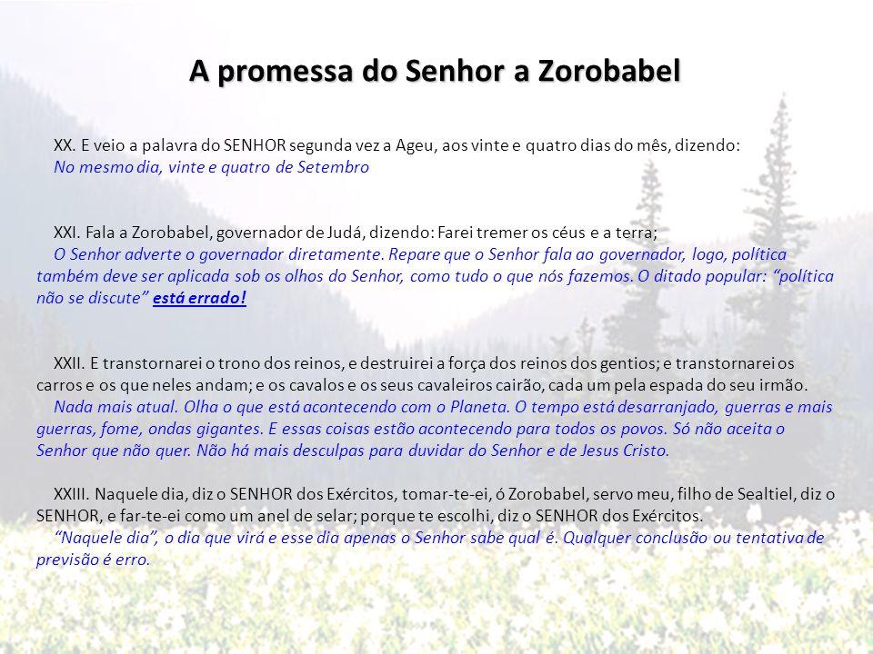 A promessa do Senhor a Zorobabel