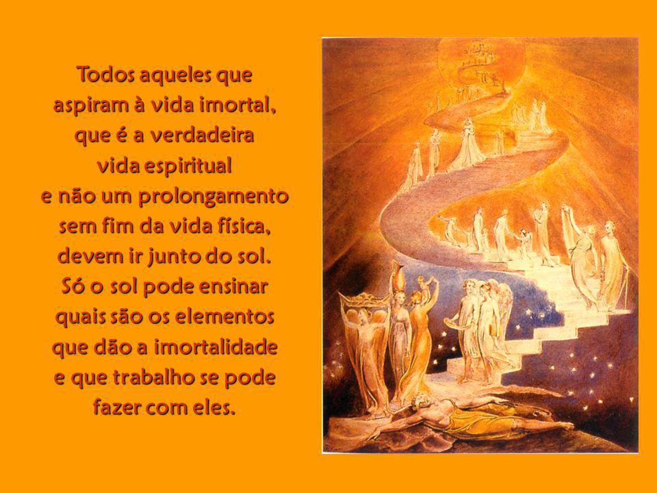 Todos aqueles que aspiram à vida imortal, que é a verdadeira. vida espiritual. e não um prolongamento.