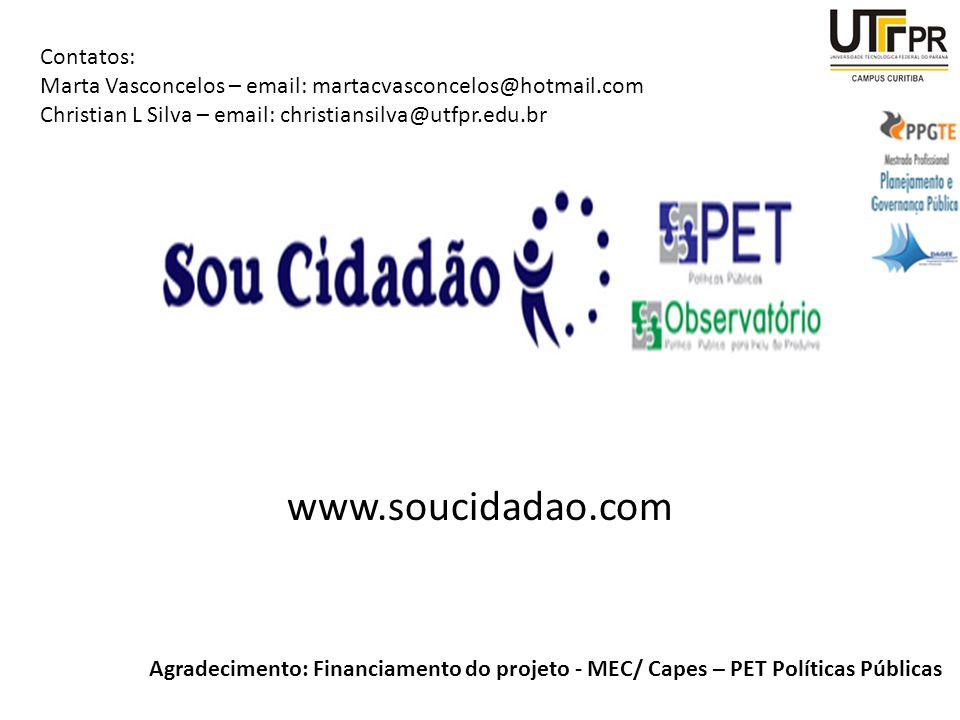 www.soucidadao.com Contatos: