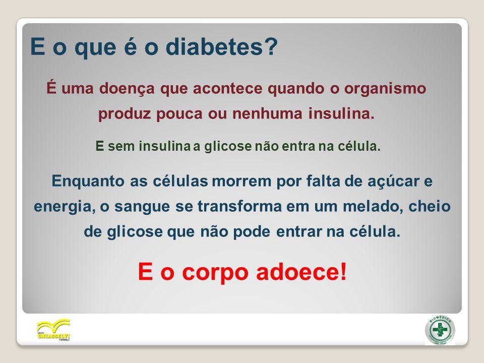 E sem insulina a glicose não entra na célula.