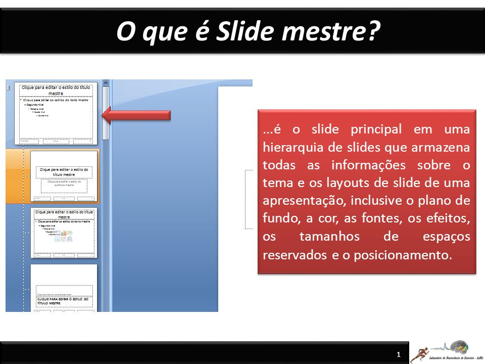 O que é Slide mestre