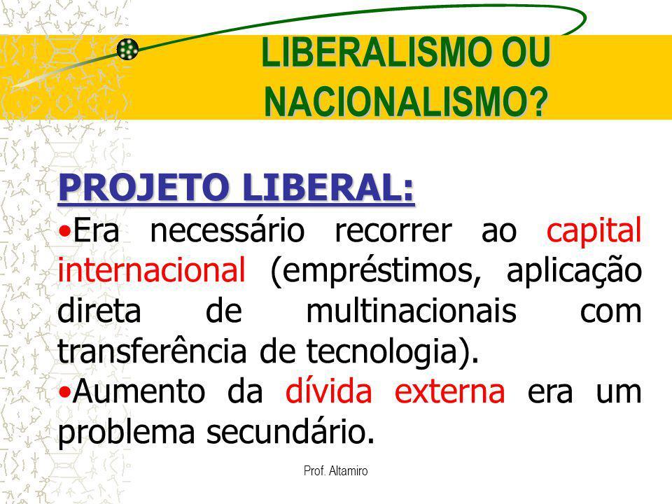 LIBERALISMO OU NACIONALISMO