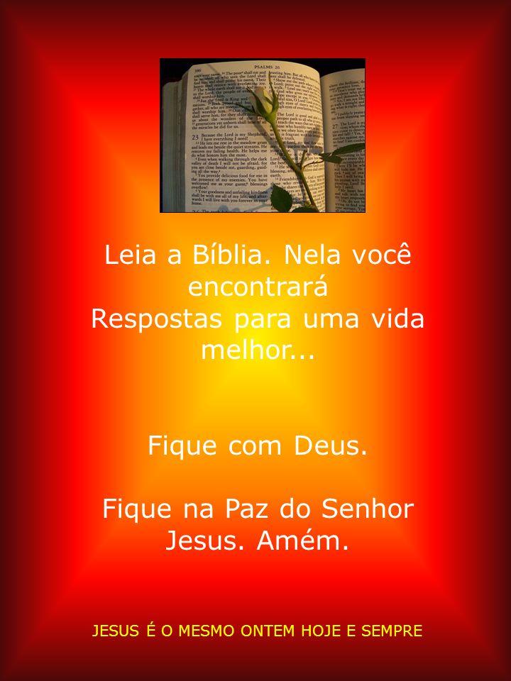 Leia a Bíblia. Nela você encontrará Respostas para uma vida melhor...
