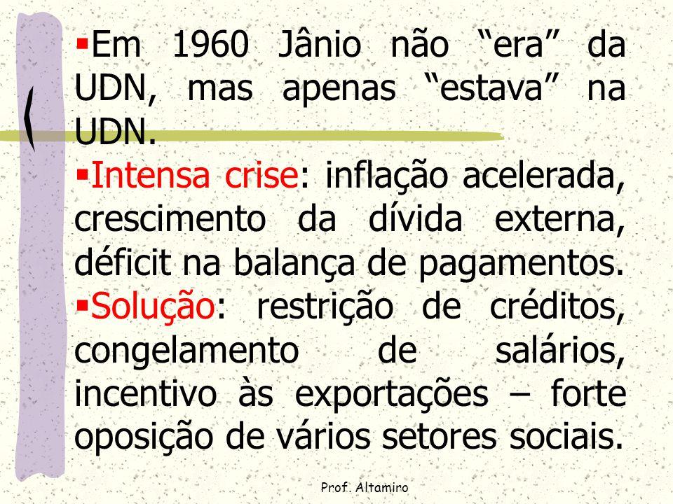 Em 1960 Jânio não era da UDN, mas apenas estava na UDN.
