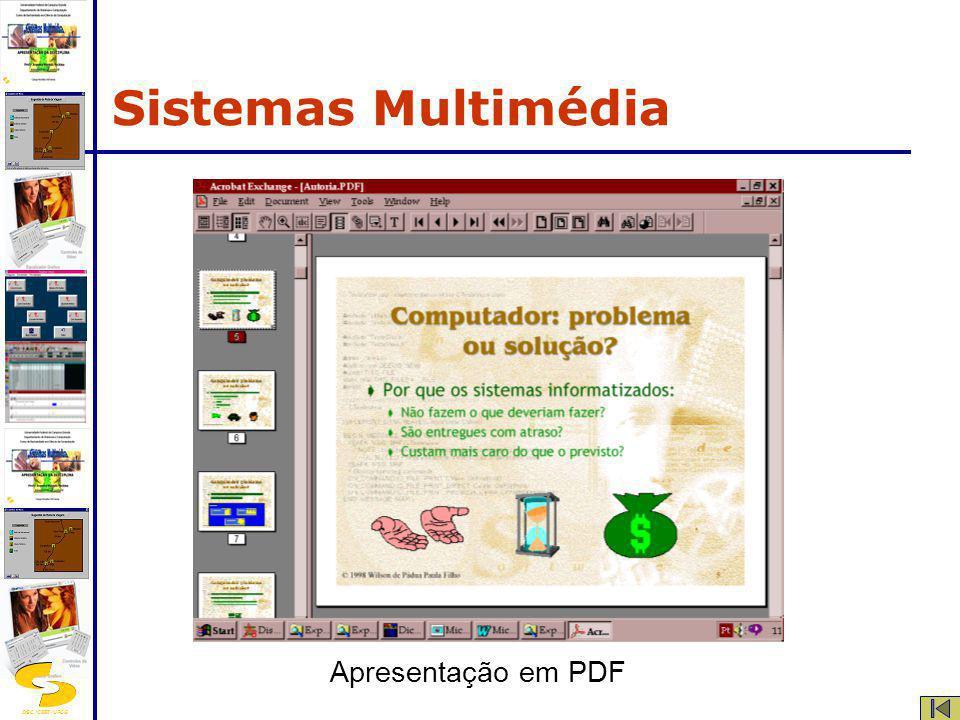 Sistemas Multimédia Apresentação em PDF