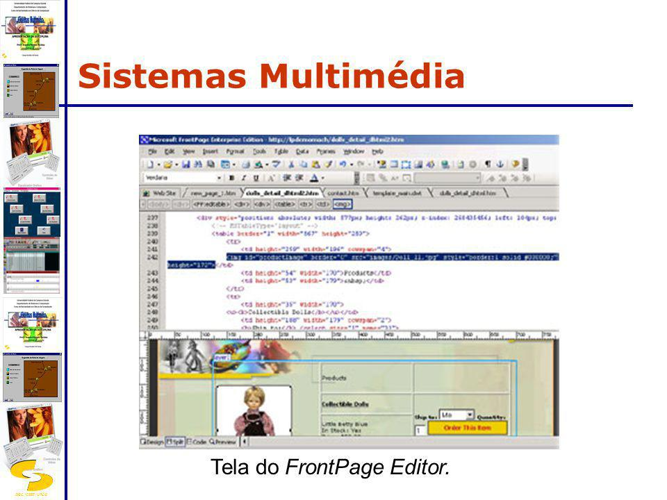 Tela do FrontPage Editor.