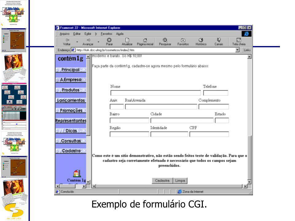 Exemplo de formulário CGI.