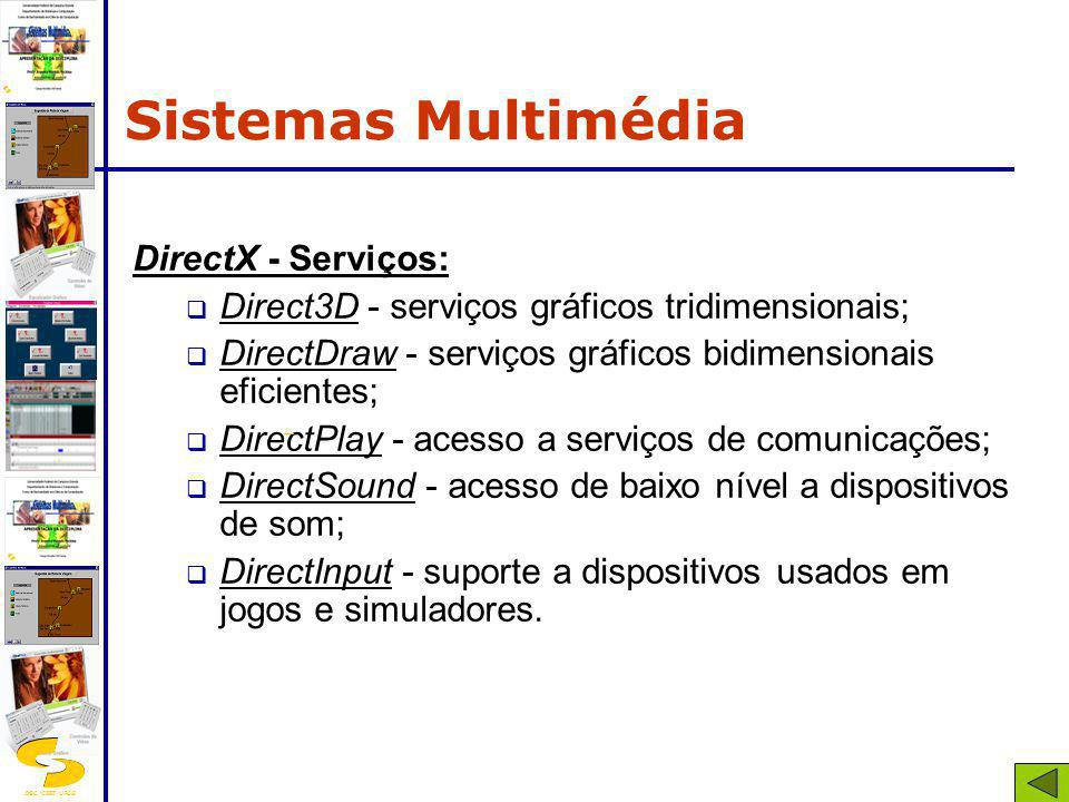 Sistemas Multimédia DirectX - Serviços: