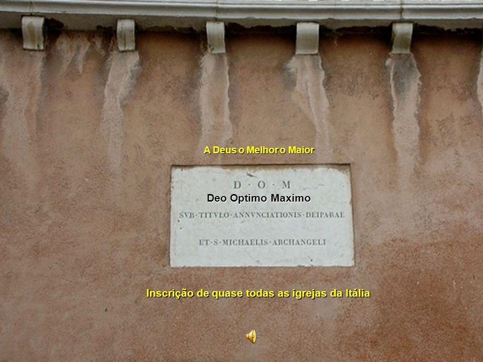 Inscrição de quase todas as igrejas da Itália