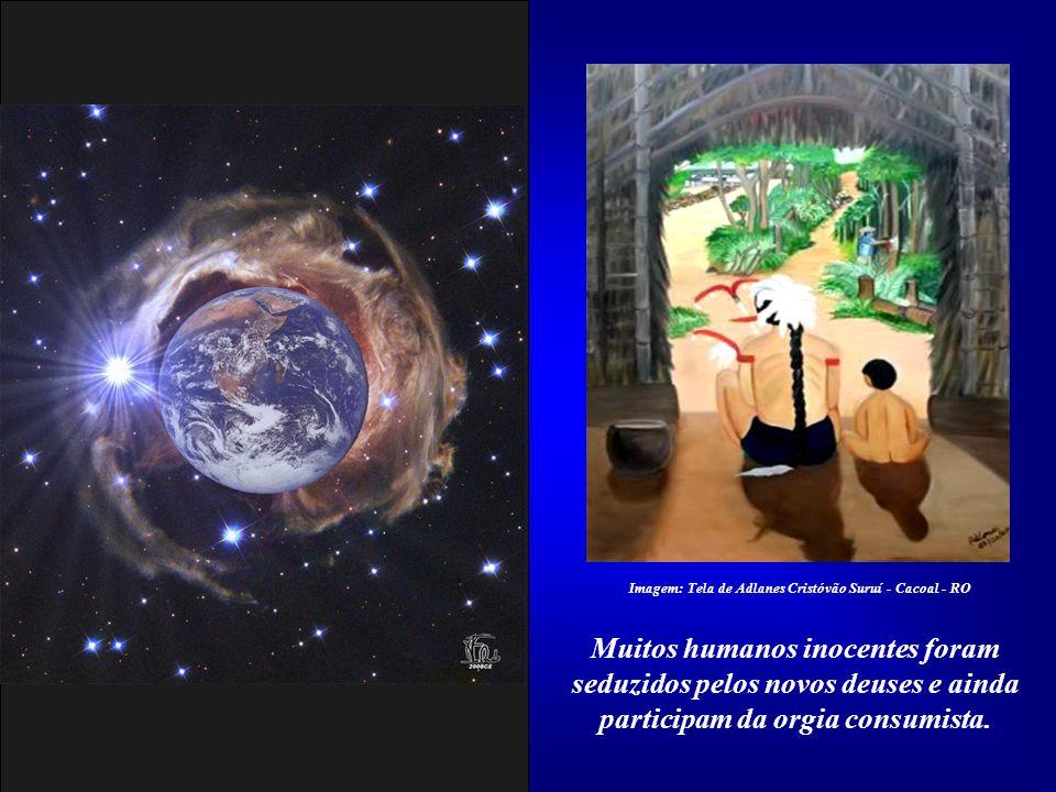 Imagem: Tela de Adlanes Cristóvão Suruí - Cacoal - RO