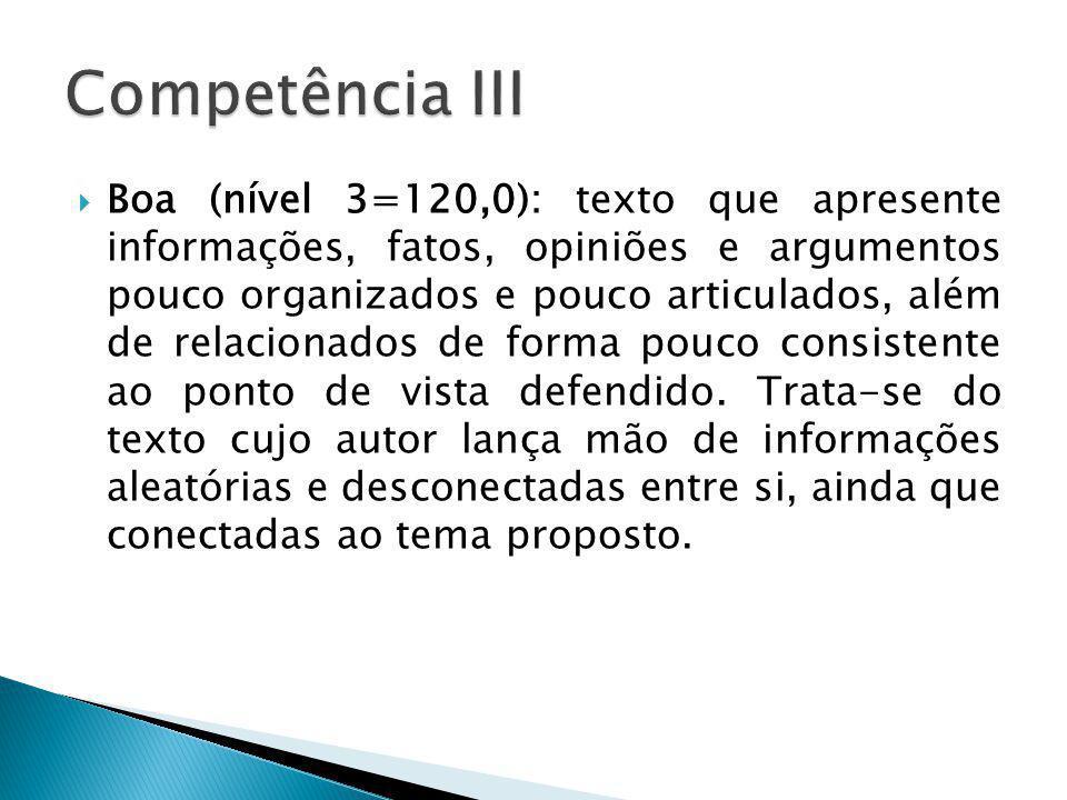 Competência III