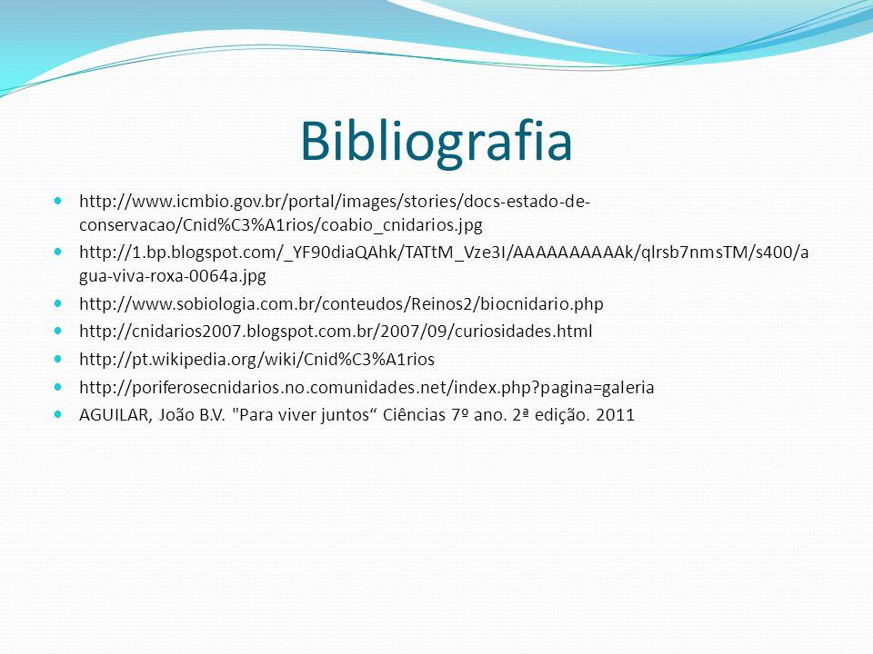 Bibliografia http://www.icmbio.gov.br/portal/images/stories/docs-estado-de-conservacao/Cnid%C3%A1rios/coabio_cnidarios.jpg.