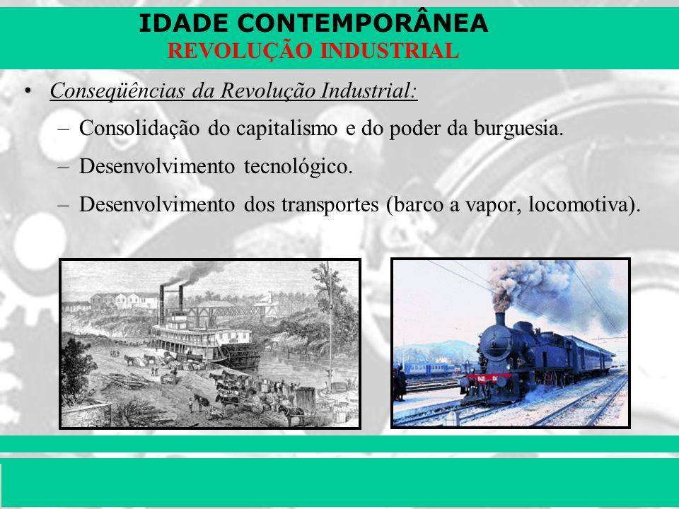Conseqüências da Revolução Industrial: