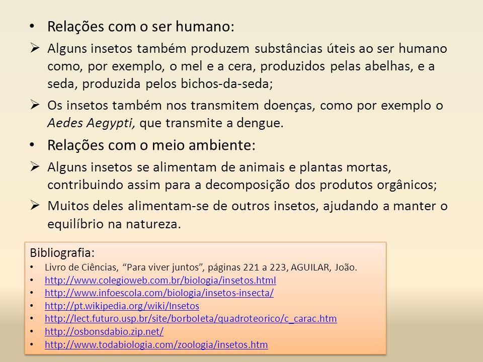 Relações com o ser humano: