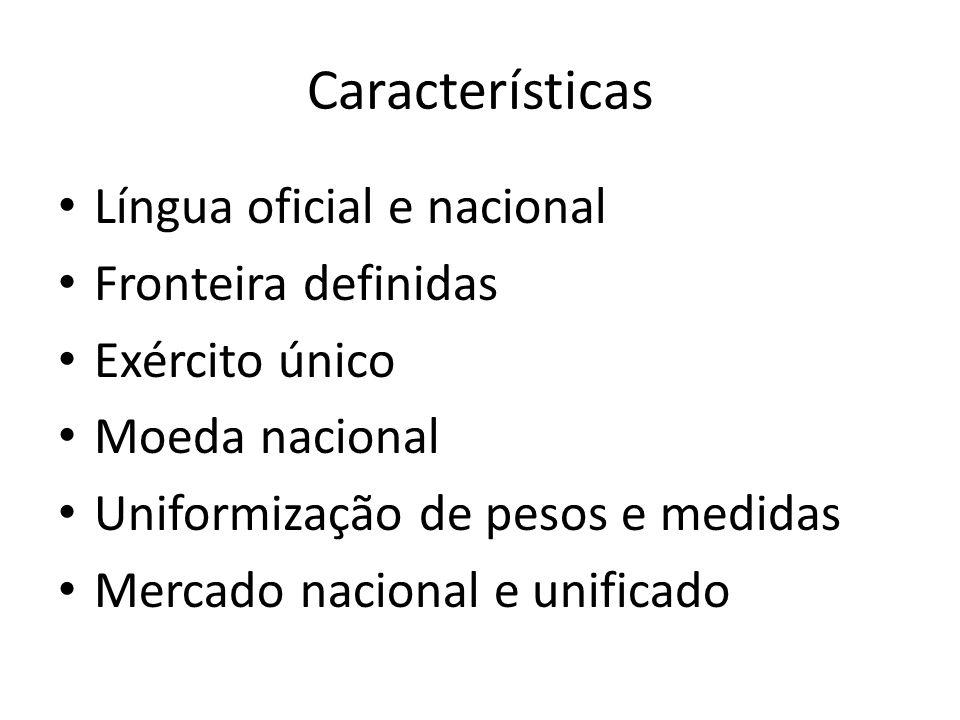 Características Língua oficial e nacional Fronteira definidas