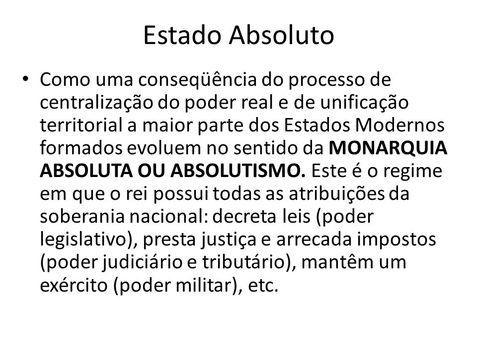 Estado Absoluto