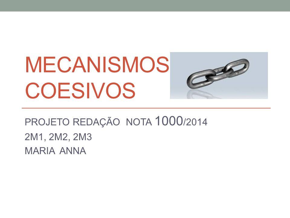 PROJETO REDAÇÃO NOTA 1000/2014 2M1, 2M2, 2M3 MARIA ANNA