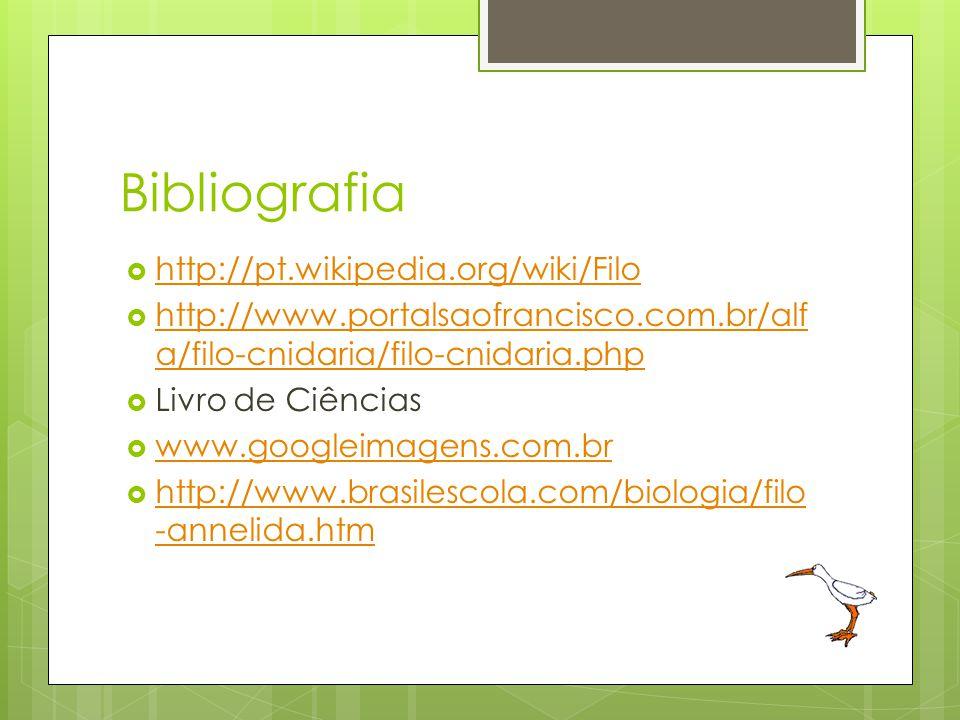 Bibliografia http://pt.wikipedia.org/wiki/Filo