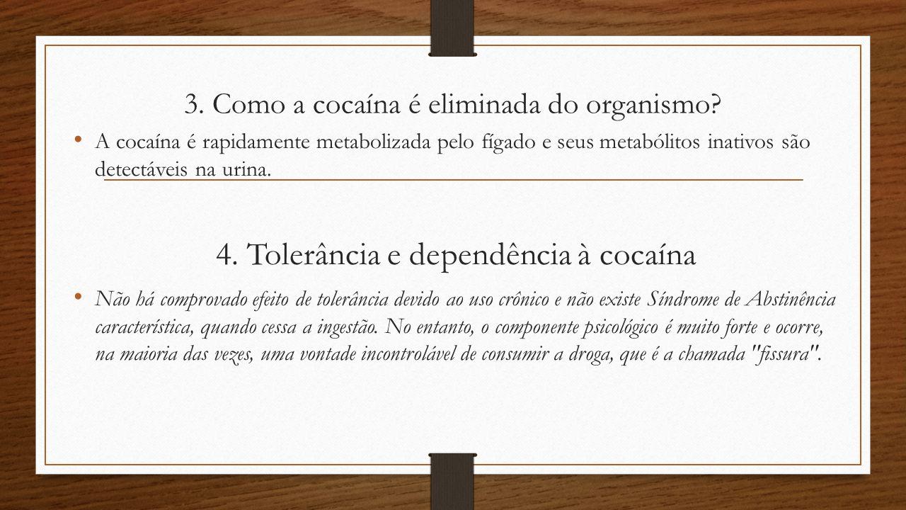 3. Como a cocaína é eliminada do organismo