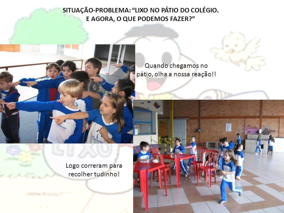 SITUAÇÃO-PROBLEMA: LIXO NO PÁTIO DO COLÉGIO.