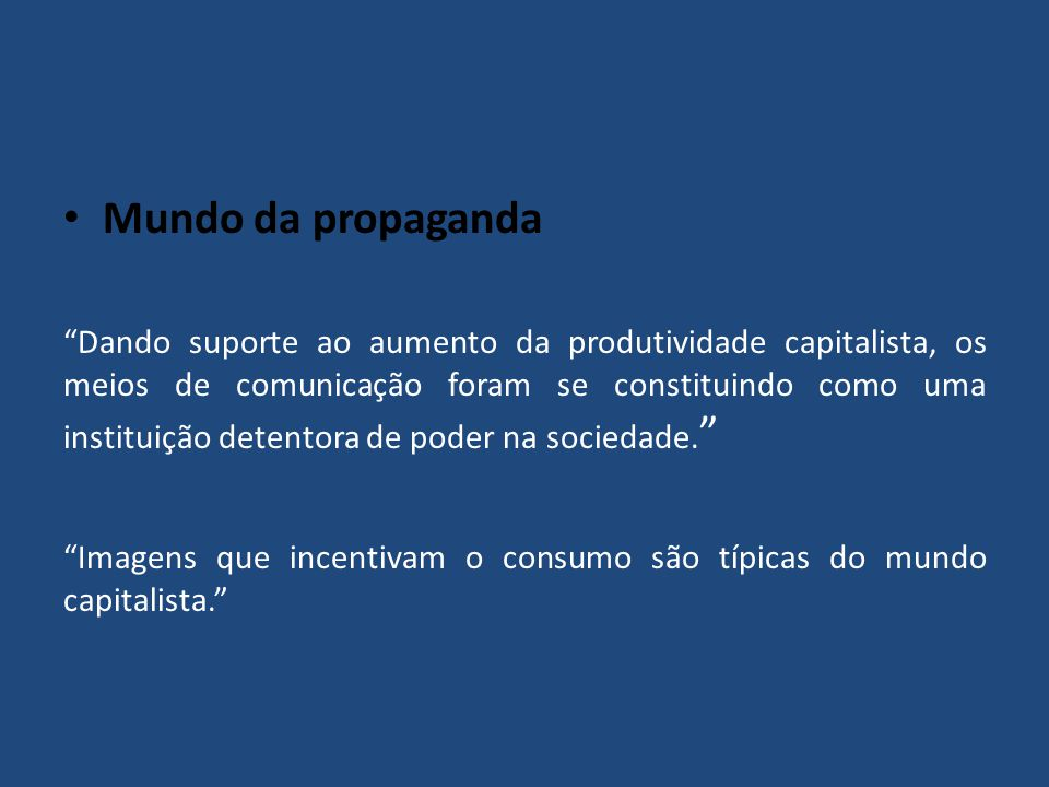 Mundo da propaganda