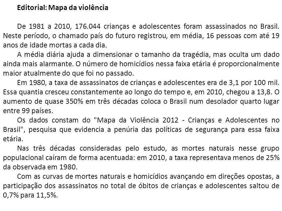 Editorial: Mapa da violência