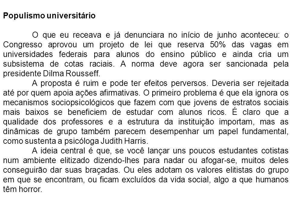 Populismo universitário